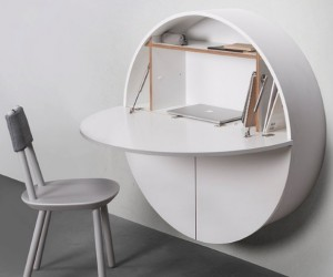 Minimalist Wall-Mounted Hideaway Desk
