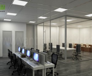 Modern  Creative 3D Commercial Office Design View