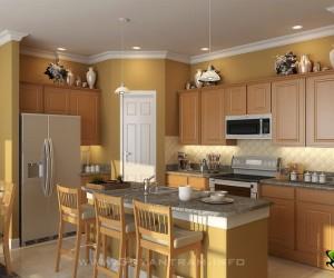 Modern 3D Kitchen Design View