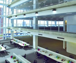 Modern and Beautiful Commercial Office Workstation Design View