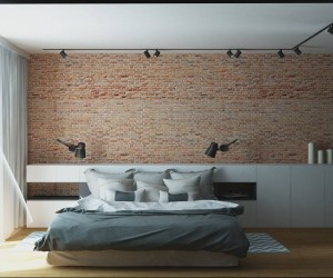 Modern and masculine interior design project by O.K. Projekt