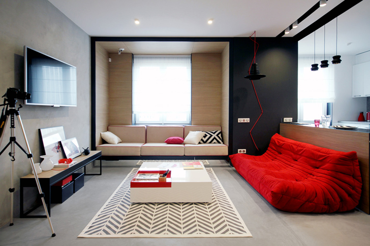 stylish bedroom design.  Modern And Stylish Bedroom Design With Red Theme For Adults