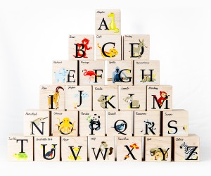 Modern Animal Alphabet Blocks