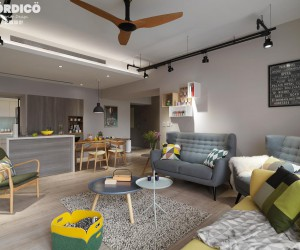 Modern apartment design by NORDICO