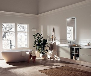 Modern Bathroom Brings Home Sophisticated Minimalism