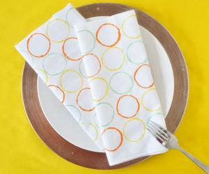 Modern Circle Stamped Napkins