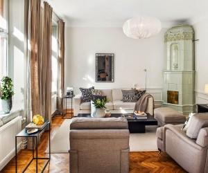Modern Classic in a Spacious Scandinavian Apartment