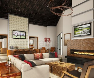 Modern Club House Design Ideas by Yantram 3d interior rendering services New York, USA