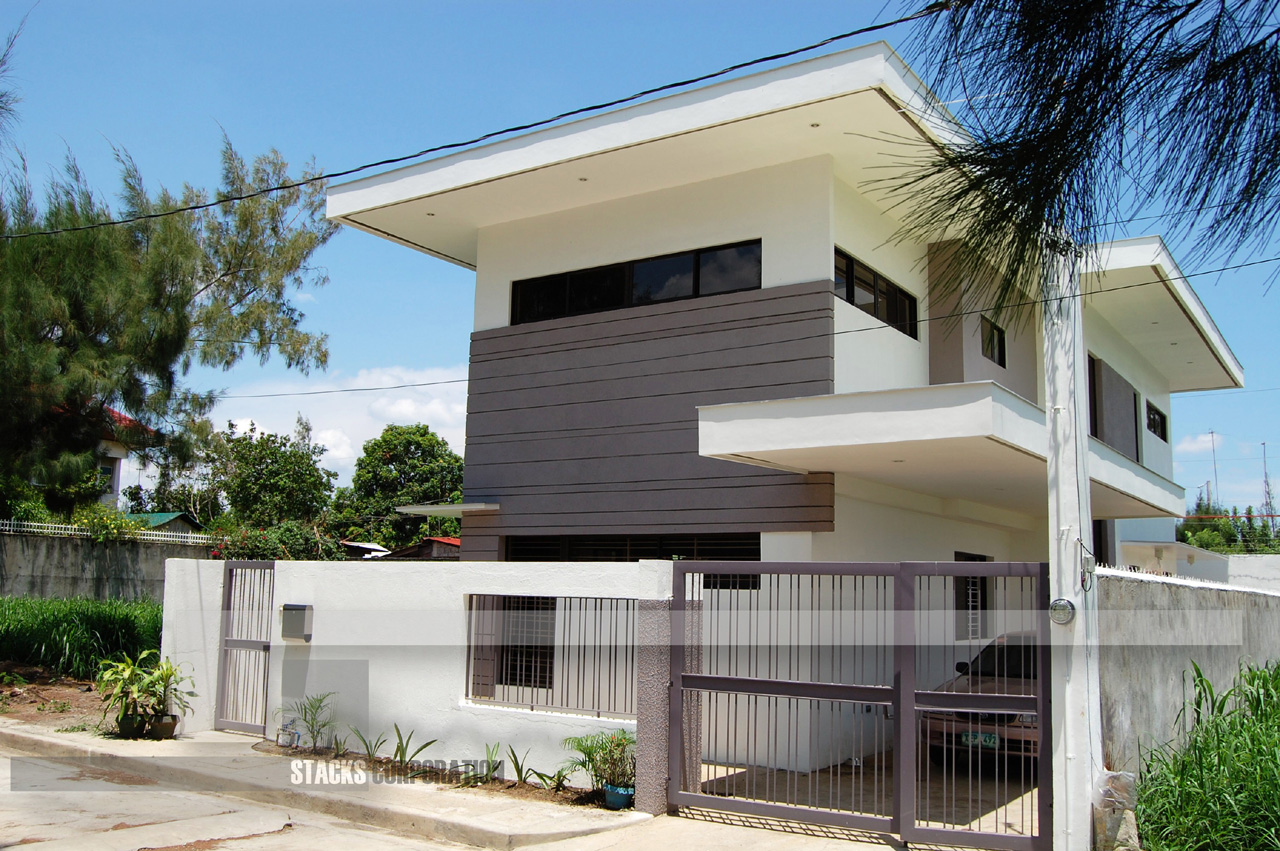 Modern contemporary design house in laguna philippines for Modern house design color