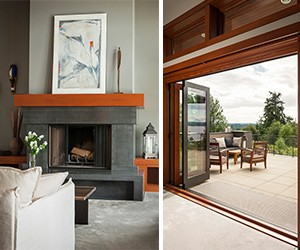 Modern design infuses with rustic undertones in this Pacific Northwest Contemporary home