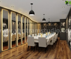Modern Dining Room Interior Design Rendering