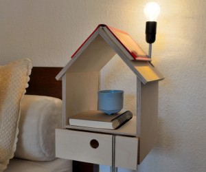 Modern flights of fancy: Nighthouse by Night birdhouse bedside table