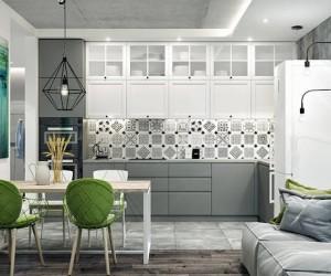 Modern Grey Interior Design Project by Julia Sultanova