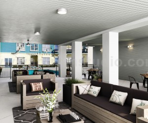 Modern High Rise Apartment Elevation Design by Yantram Architectural Visualisation Studio - Los Angeles, USA