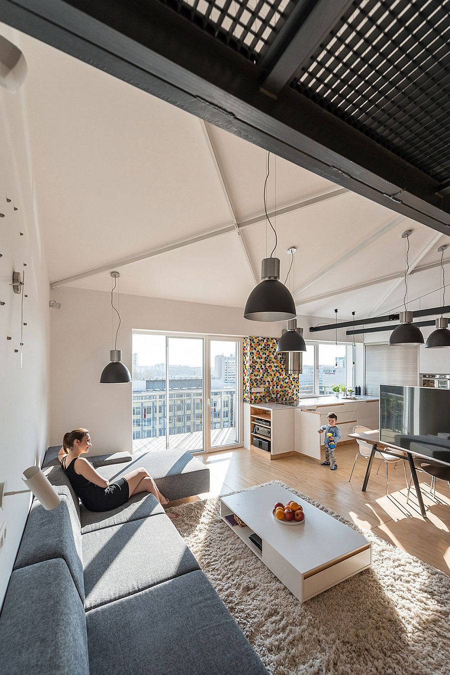 Modern Industrial Loft Apartment in Bratislava Showcases Space ...