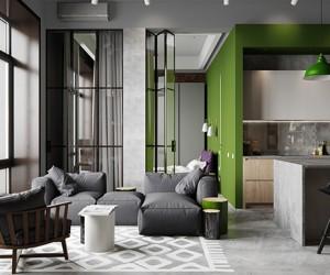 Modern industrial loft by PROforma