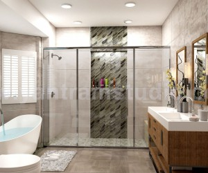 Modern Interior Design Bathroom Developed by Yantram Architectural Modeling Firm, Cape Town - South Africa