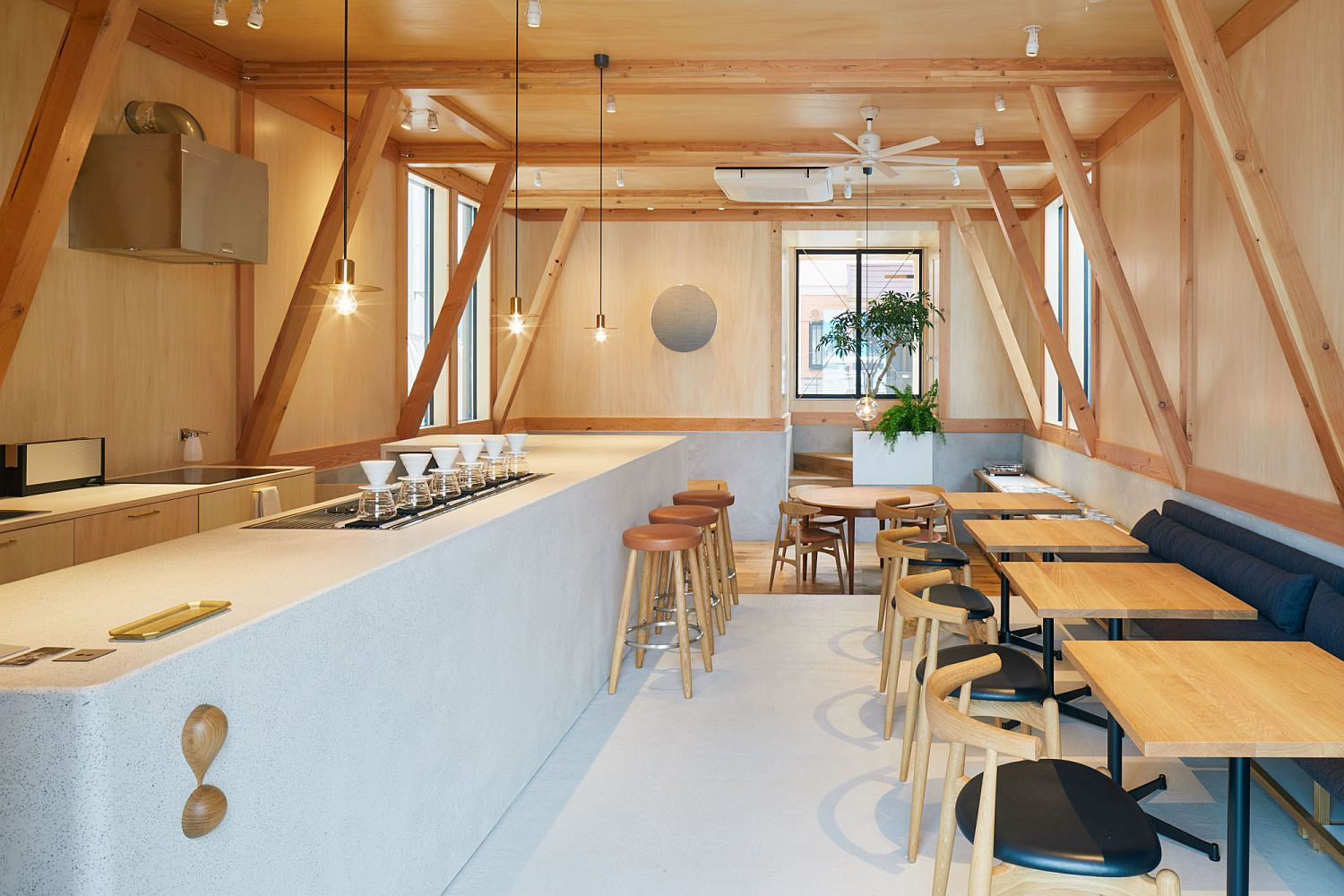 Modern Japanese Caf With A Cozy Residence Above Makes A