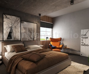 Modern Master Bedroom Design Concept with 3D Interior Rendering Services by Yantram Architectural Animation Studio, Paris  France