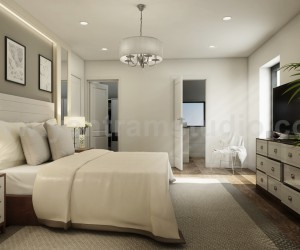 Modern Master Bedroom Ideas Developed By Yantram 3D Interior Designers, Brussels - Belgium