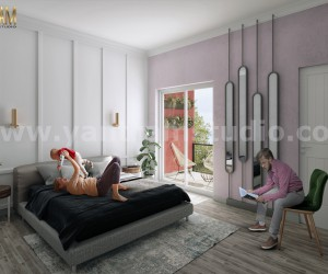 Modern Master Bedroom ideas of 3D Interior Rendering Services by Yantram 3D Animation Studio, Paris  France