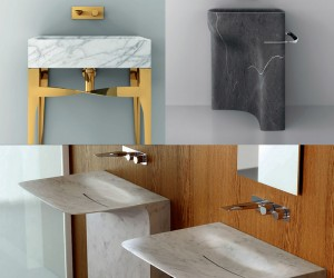 Modern, Metal and Marble Washbasins by Teuco