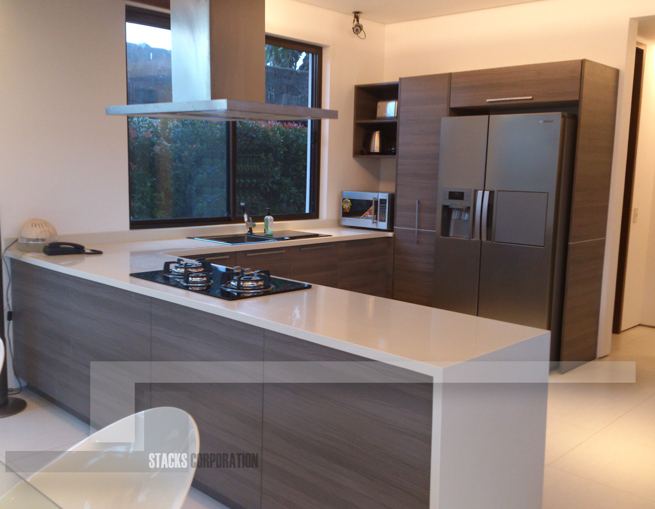 Modern home with minimalist kitchen materials detailed for Modern kitchen design philippines