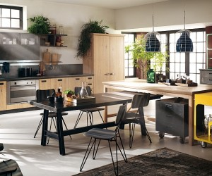 Modern Modular Kitchen With A Dash Of Vintage Charm