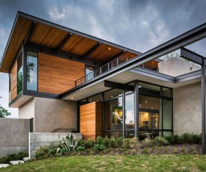 Modern New Home in Texas Uncovering Views of Downtown Austin Over Treetops