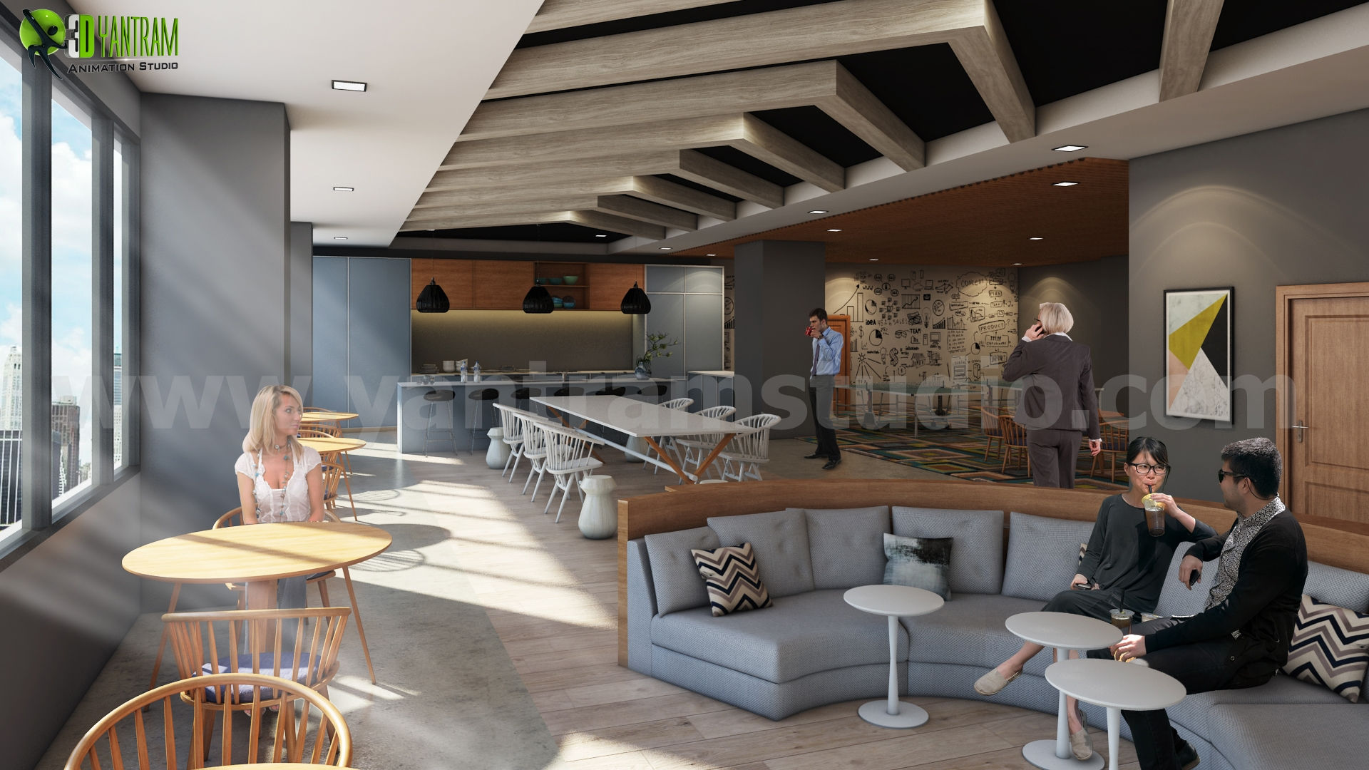 Modern Office Interior Design Ideas For Kitchen, Pantry And Waiting Areas  By Interior Concept Drawings   Cape Town, Australia