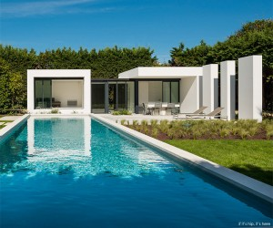 Modern Pool House and Pool by Atelier DC and Mars06