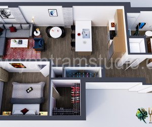 Modern Residential 3d home floor plan design Concept by Yantram Architectural Rendering Companies, Vancouver  Canada