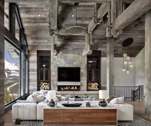 Modern-Rustic Home Set Amidst The Grandeur Of The Rocky Mountains
