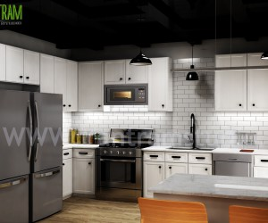 Modern Small Kitchen Design Ideas by Yantram 3d Interior Rendering Services - Berlin, Germany