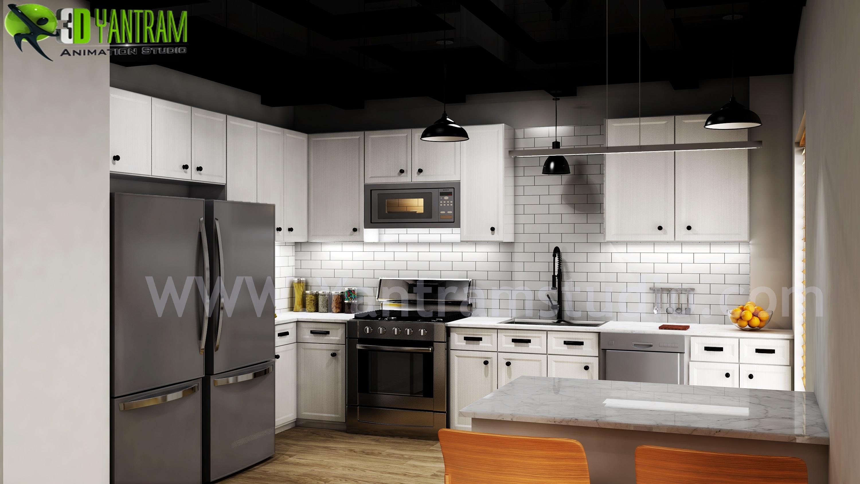 modern small kitchen design ideasyantram 3d interior