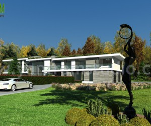 Modern Style House Design Ideas  Pictures by Yantram architectural design studio - Boston, USA