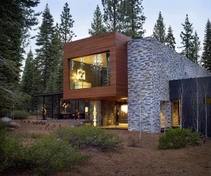 Modern Tahoe Mountain Retreat  Jamie Bush  Co