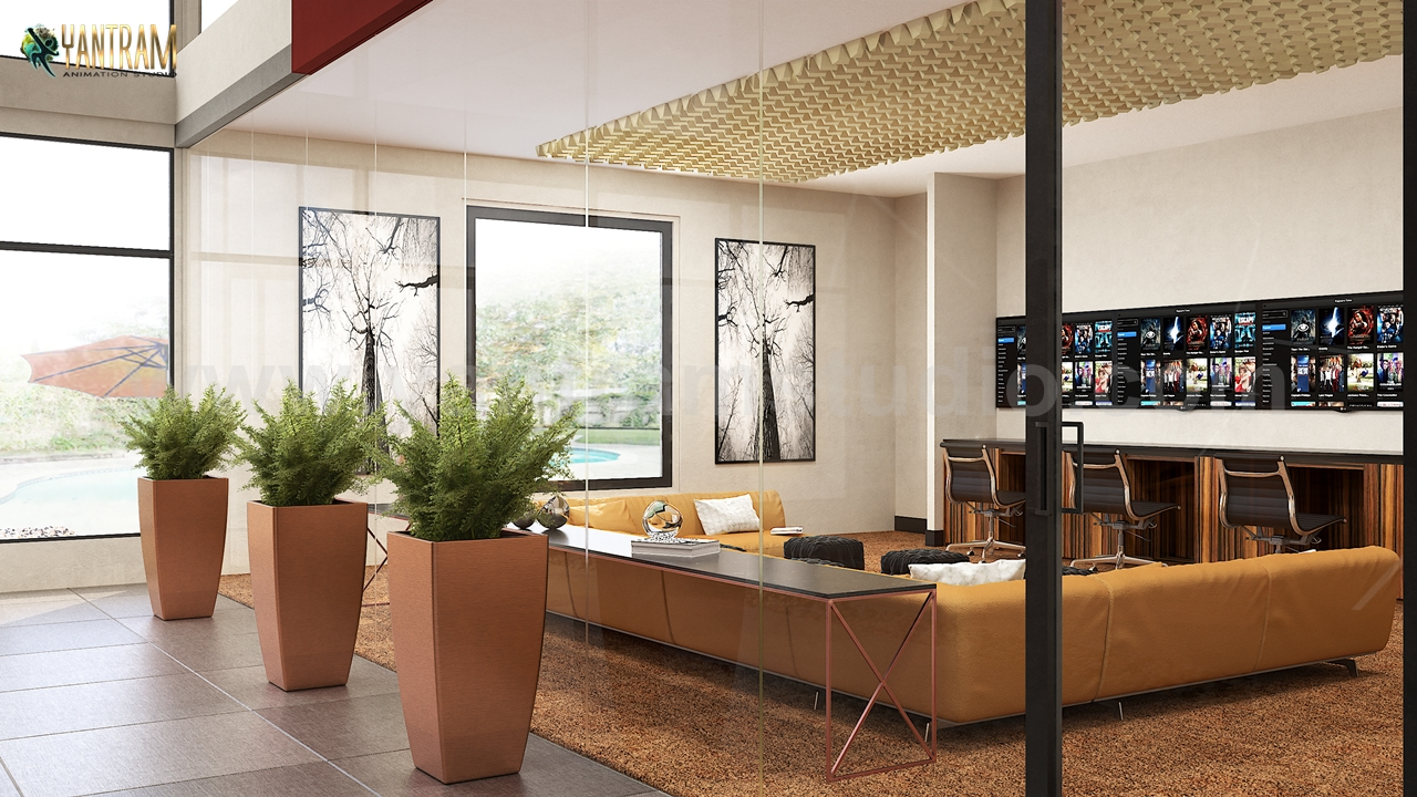 Modern Video Game, Wine Room Impressive lobby Ideas to