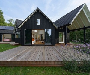 Modern village house in Denmark