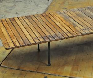 Modern50 Paxinos Birch Slat Bench Table Assemblage