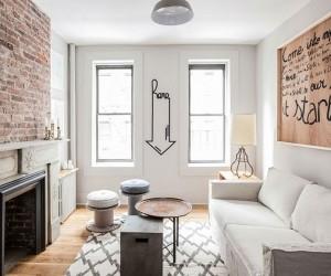 Monochromatic Magic Refined Rental Apartment in New York City
