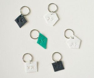 Monogrammed Clay Keychains