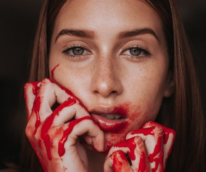 Moody Female Portrait Photography by Javier Sulbaran