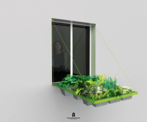 More freshness with a small garden at the window