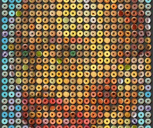 Mosaic Portraits Made From Donuts by Candice CMC