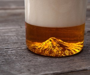 Mount Hood Handblown Pint Glass by North Drinkware