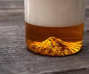 Mount Hood Handblown Pint Glass by North Drinkware
