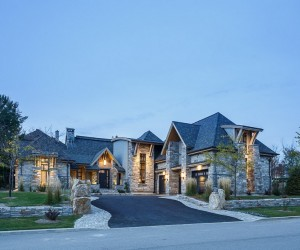 Mountain Rustic Look Tastefully Displayed by Rock Copper Glass Residence in Canada  Read more: http:freshome.com20141218mountain-rustic-look-tastefully-displayed-by-rock-copper-glass-residence-in-canadaixzz3MKuI66qu