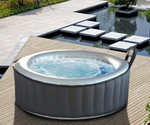 MSpa Silver Cloud Inflatable Hot Tub and Bubble Spa