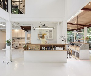 Multi-Generational Family Home in Bangkok Turned into a Chic Salon
